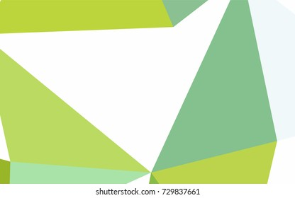 Light Green, Yellow vector abstract colorful background, which consist of triangles. Pattern with colored triangles on white background.