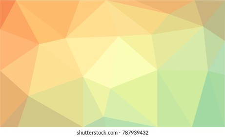 Light Green, Yellow vector abstract textured polygonal background. Blurry triangle design. Pattern can be used for background.