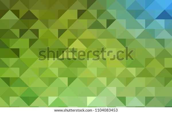 Light Green, Yellow vector abstract mosaic background. Modern geometrical abstract illustration with gradient. A completely new template for your business design.