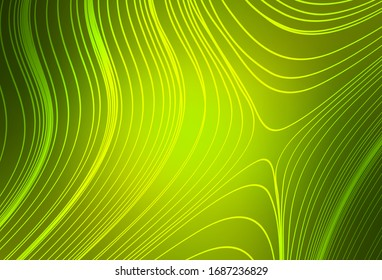 Light Green, Yellow vector blurred bright texture. Shining colorful illustration in smart style. New way of your design.