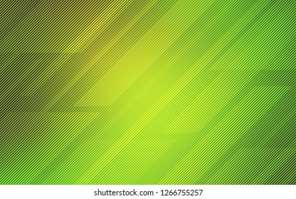 Light Green, Yellow vector cover with stright stripes. Modern geometrical abstract illustration with Lines. The pattern for ad, booklets, leaflets.