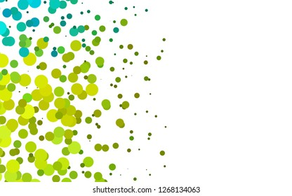 Light Green, Yellow vector cover with circles. Illustration with set of shining colorful abstract circles. Design for posters, banners.