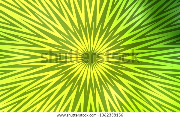 Light Green, Yellow vector layout with flat lines. Shining colored illustration with sharp stripes. Smart design for your business advert.