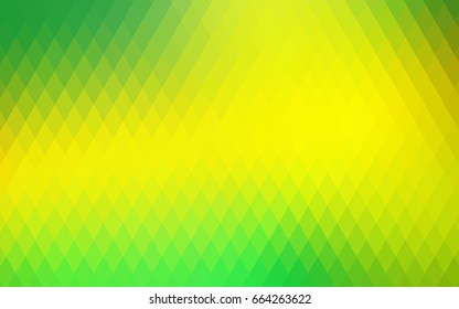 Light Green, Yellow vector low poly background. A sample with a polygonal design. Illustration in polygonal style with repeating squares