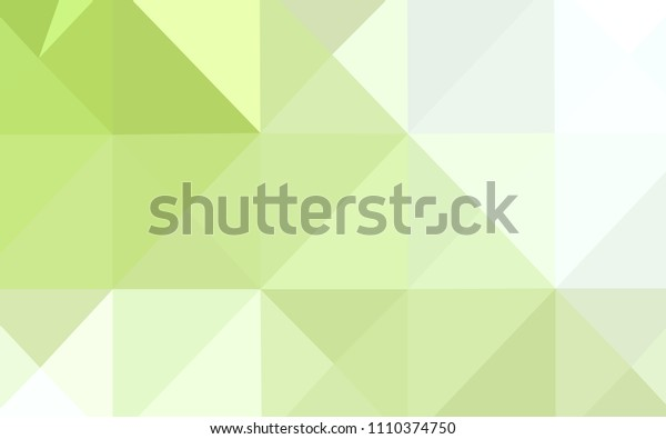 Light Green, Yellow vector low poly cover. Polygonal abstract illustration with gradient. The best triangular design for your business.