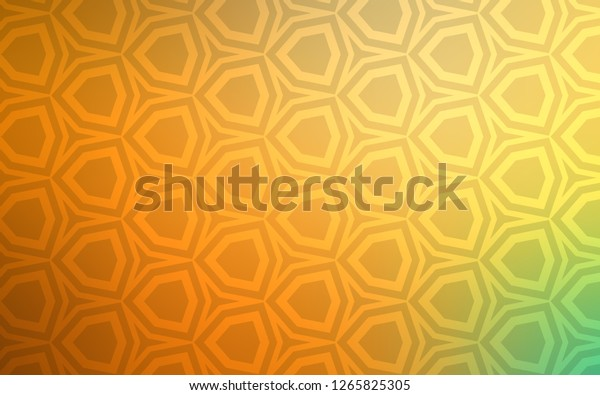 Light Green, Yellow vector pattern with colorful hexagons. Glitter abstract illustration in hexagonal style. Pattern for landing pages.
