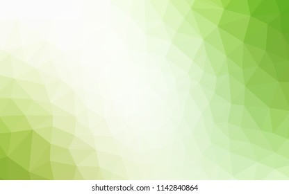 Light Green, Yellow vector polygon abstract layout. Modern abstract illustration with triangles. Triangular pattern for your design.