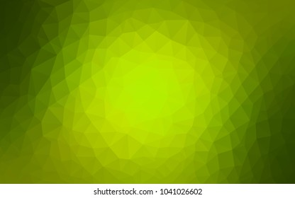 Light Green, Yellow vector polygonal illustration, which consist of triangles. Triangular pattern for your business design. Geometric background in Origami style with gradient.