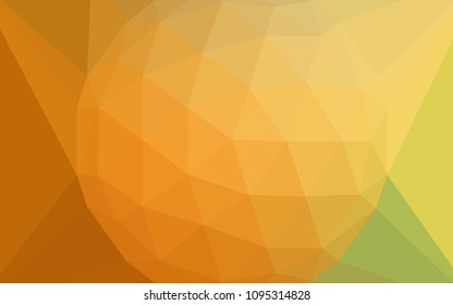 Light Green, Yellow vector polygonal pattern with a diamond. A sample with polygonal shapes. Best triangular design for your business.