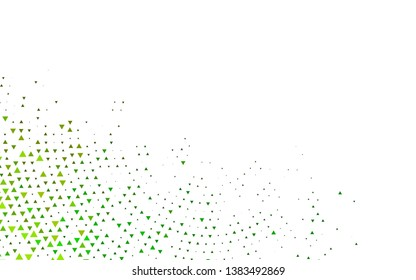 Light Green, Yellow vector template with crystals, triangles. Abstract gradient illustration with triangles. Smart design for your business advert.
