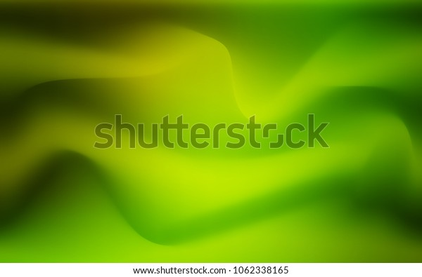 Light Green, Yellow vector template with bent ribbons. An elegant bright illustration with gradient. The template for cell phone backgrounds.