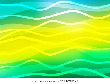 Light Green, Yellow vector texture with colored lines. Decorative shining illustration with lines on abstract template. Smart design for your business advert.