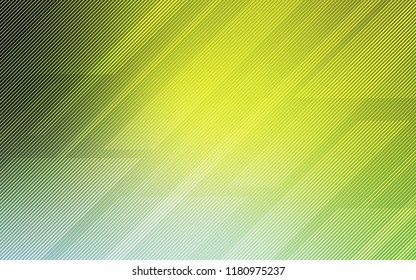 Light Green, Yellow vector texture with colored lines. Modern geometrical abstract illustration with Lines. Smart design for your business advert.