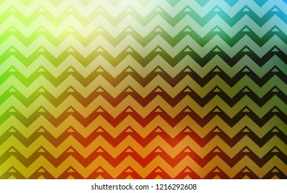 Light Green, Yellow vector texture with triangular style. Decorative design in abstract style with triangles. Template for wallpapers.