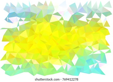 Light Green, Yellow vector triangle mosaic template. Shining illustration, which consist of triangles. The completely new template can be used for your brand book.