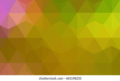 Light green-yellow abstract mosaic background. Brand-new colored illustration in blurry style with gradient. A new texture for your design.