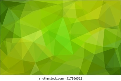 Light green-yellow blurry triangle pattern. Modern geometrical abstract illustration with gradient. Brand-new design for your business.