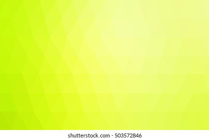 Light green-yellow low poly background. Colorful abstract illustration with gradient. Brand-new design for your business.