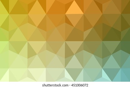 Light green-yellow low poly pattern. Shining illustration, which consist of triangles. A completely new template for your business design.