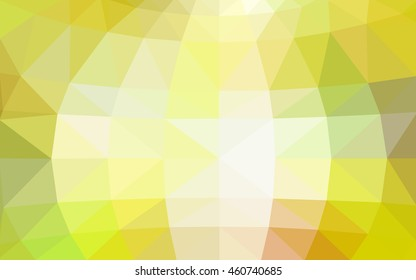Light green-yellow polygonal illustration, which consist of triangles. Triangular design for your business. Geometric background in Origami style with gradient.