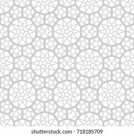Фотообои Light Grey Arabesque Pattern, Vector illustration