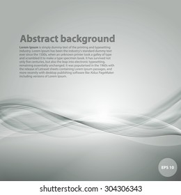 Light grey background with gradient and blend. Business style or technology clean design. Modern vector backdrop with violet gradient and wave. Template cover or page