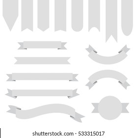 Light Grey Off White Ribbon Banner Collection