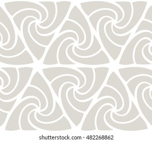 Light grey triangular spiral seamless pattern