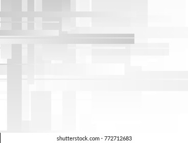 Light grey and white abstract tech geometric motion graphic design. Seamless looping. Video animation HD 1920x1080