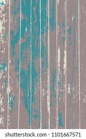 Light grunge wood overlay vertical texture. Vector illustration background in blue, brown and beige. Natural rustic distressed backdrop.