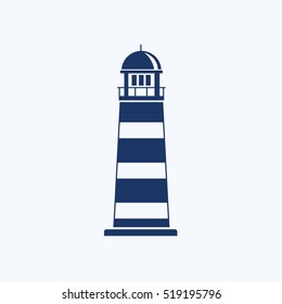 Light house icon design,clean vector