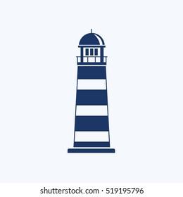 Light house icon design,clean vector