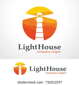 Light House Logo Template Design Vector, Emblem, Design Concept, Creative Symbol, Icon
