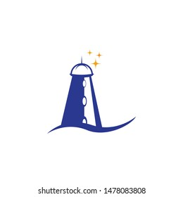 Light house logo template vector icon design