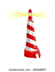 Light House -  Vector Artwork (isolated on white background).