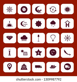 light icon set with truck, floor lamp and islamic mosque vector illustration