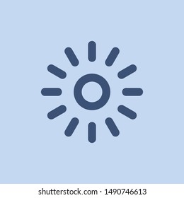 light icon symbol with sunbrust style vector. Sun abstract design for app and website.
