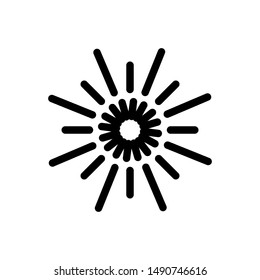 Light icon symbol with sunbrust style vector. Sun abstract design.