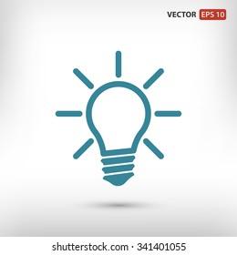 Light lamp  icon. One of set web icons
