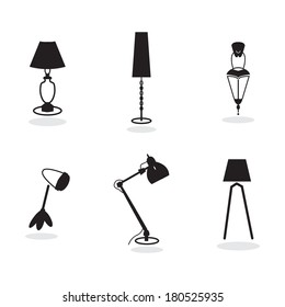 light, lamp icons for web and print