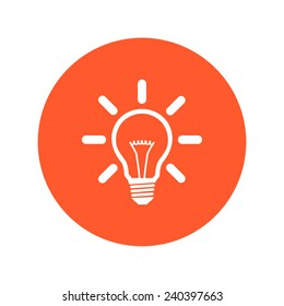 Light lamp sign icon. Idea bulb symbol.