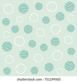 Light mint seamless polka dots pattern. Vector