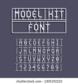 Light Model Kit Font. Letters and Numbers