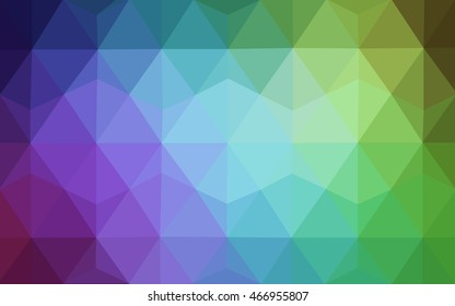 Light multicolor abstract mosaic background. Geometric illustration in Origami style with gradient.  The elegant pattern can be used as part of a brand book.