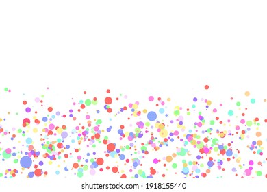 Light multicolor background, colorful vector texture with circles. Splash effect banner. Glitter silver dot abstract illustration with blurred drops of rain. Pattern for web page, banner,poster, card.