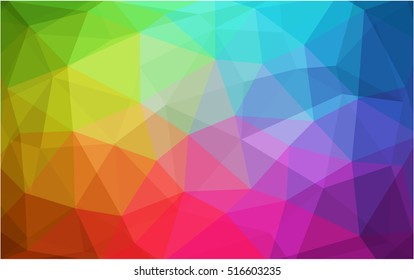 Light multicolor blurry triangle template. Shining colored illustration in a brand-new style. Brand-new design for your business.