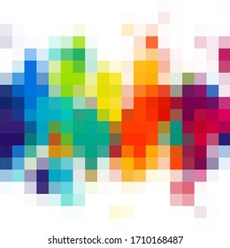 Light Multicolor pattern . Rectangles on abstract background with colorful gradient. Rainbow vector