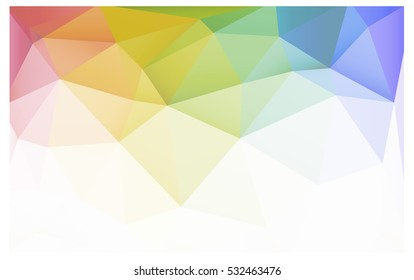 Light Multicolor Pattern. Seamless triangular template. Geometric sample. Repeating routine with triangle shapes. Seamless texture for your design. Pattern can be used for background.