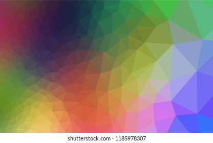 Light Multicolor, Rainbow vector abstract mosaic backdrop. Shining colored illustration in a Brand new style. A completely new design for your business.