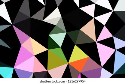 Light Multicolor, Rainbow vector abstract mosaic background. Brand new colored illustration in blurry style with gradient. The completely new template can be used for your brand book.